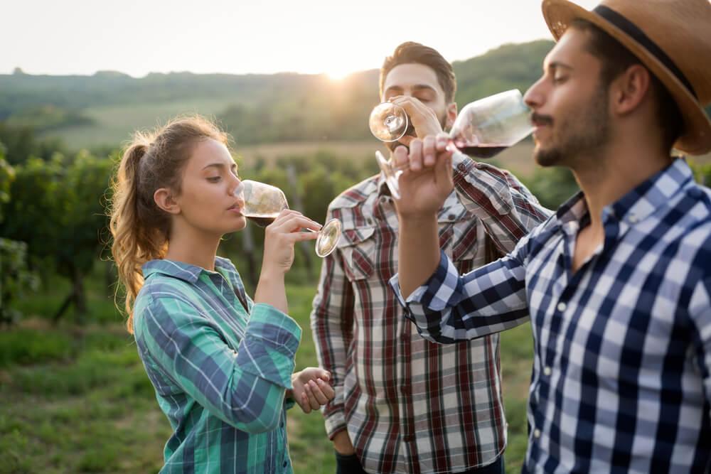 Friends enjoying best wineries in Vermont